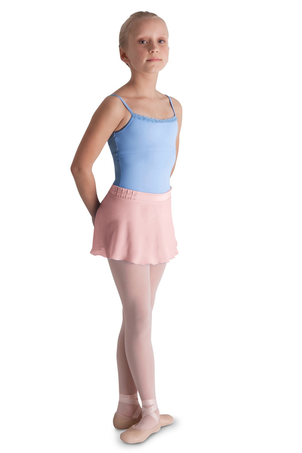 Pleat Detail Wrap Skirt Children's Dance Skirts
