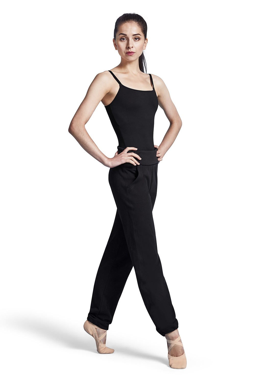 Fold Down Waist Pant Women's Dance Pants