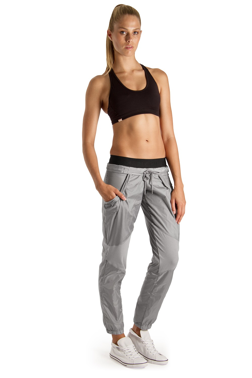 Rib Knee Panel Pant Women's Dance Pants
