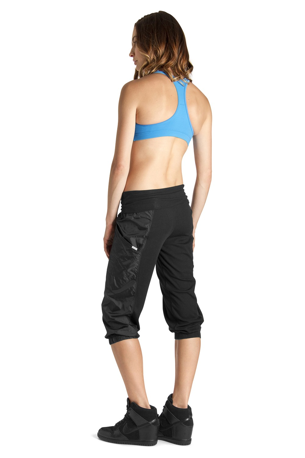 Rib Panel 3/4 Pant Women's Dance Pants