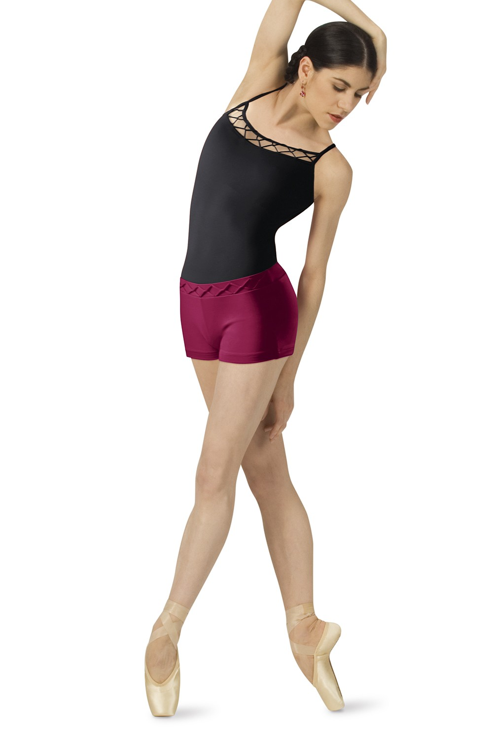 Rouleaux Waist Short Women's Dance Shorts