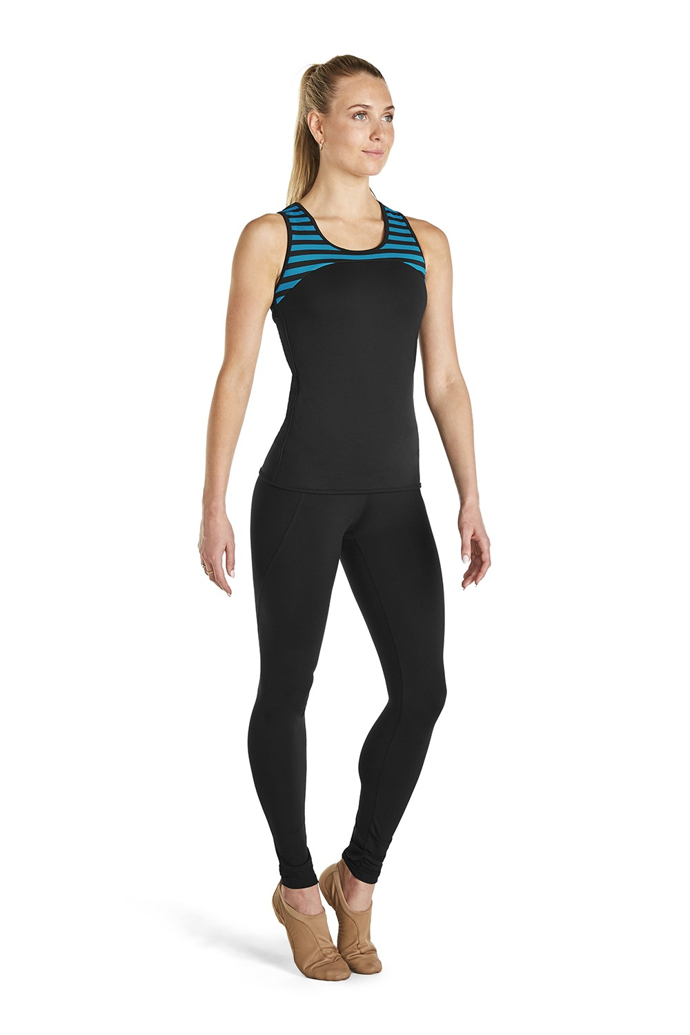 Stripe Active Top Women's Tops