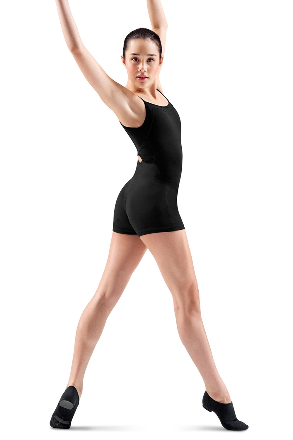 Cross Back Short Unitard Women's Dance Shorts