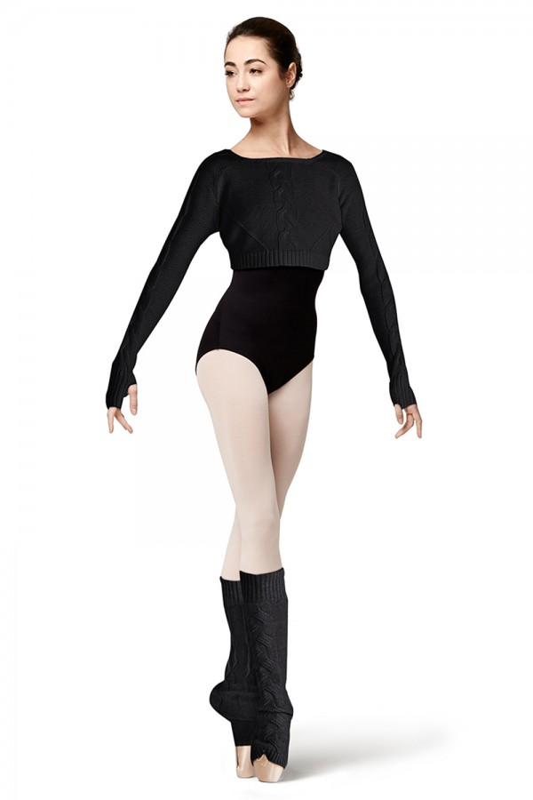 image - Cable Knit Leg Warmer Women's Dance Warmups