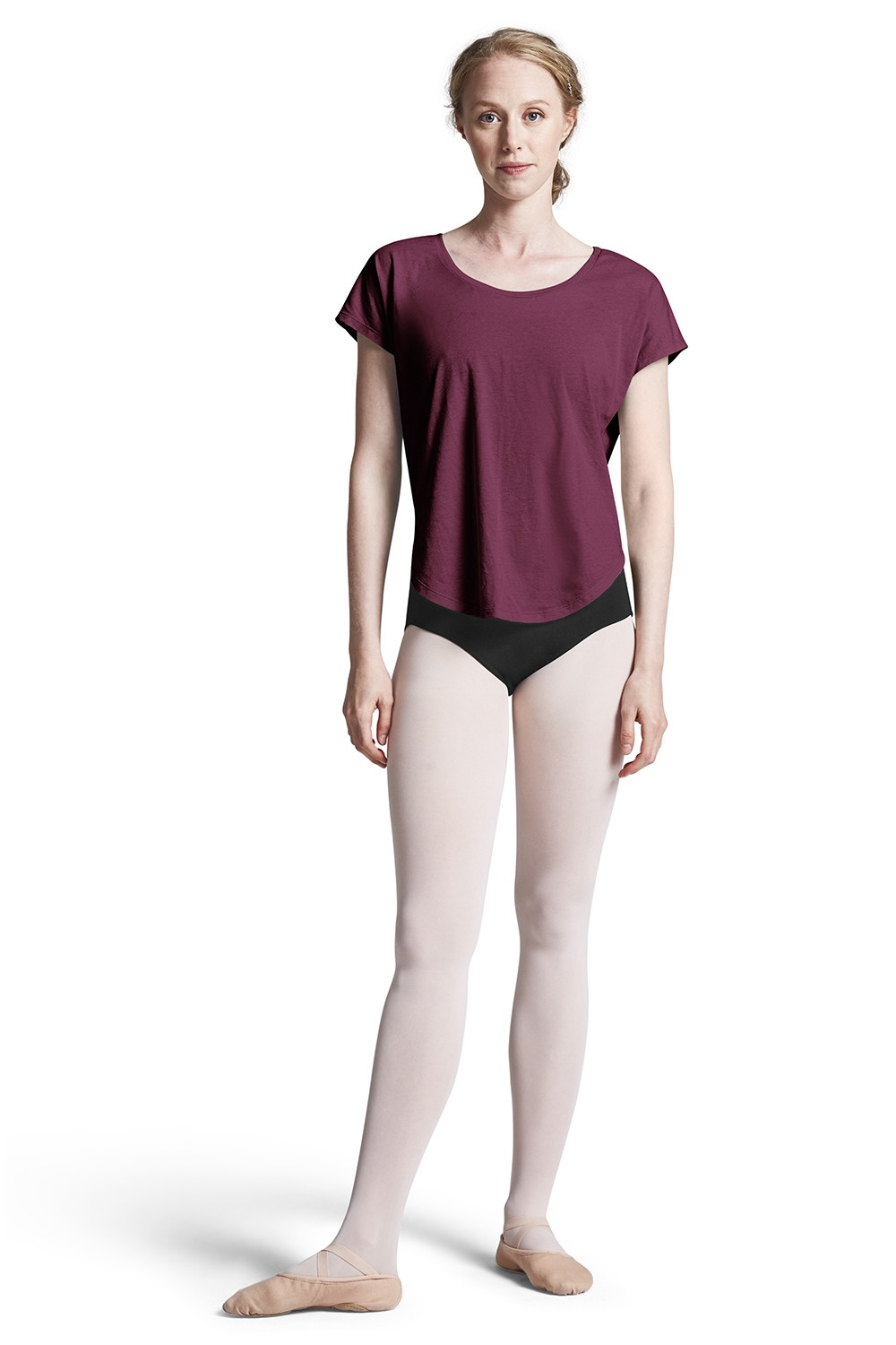 Boatneck T-shirt Women's Dance Tops