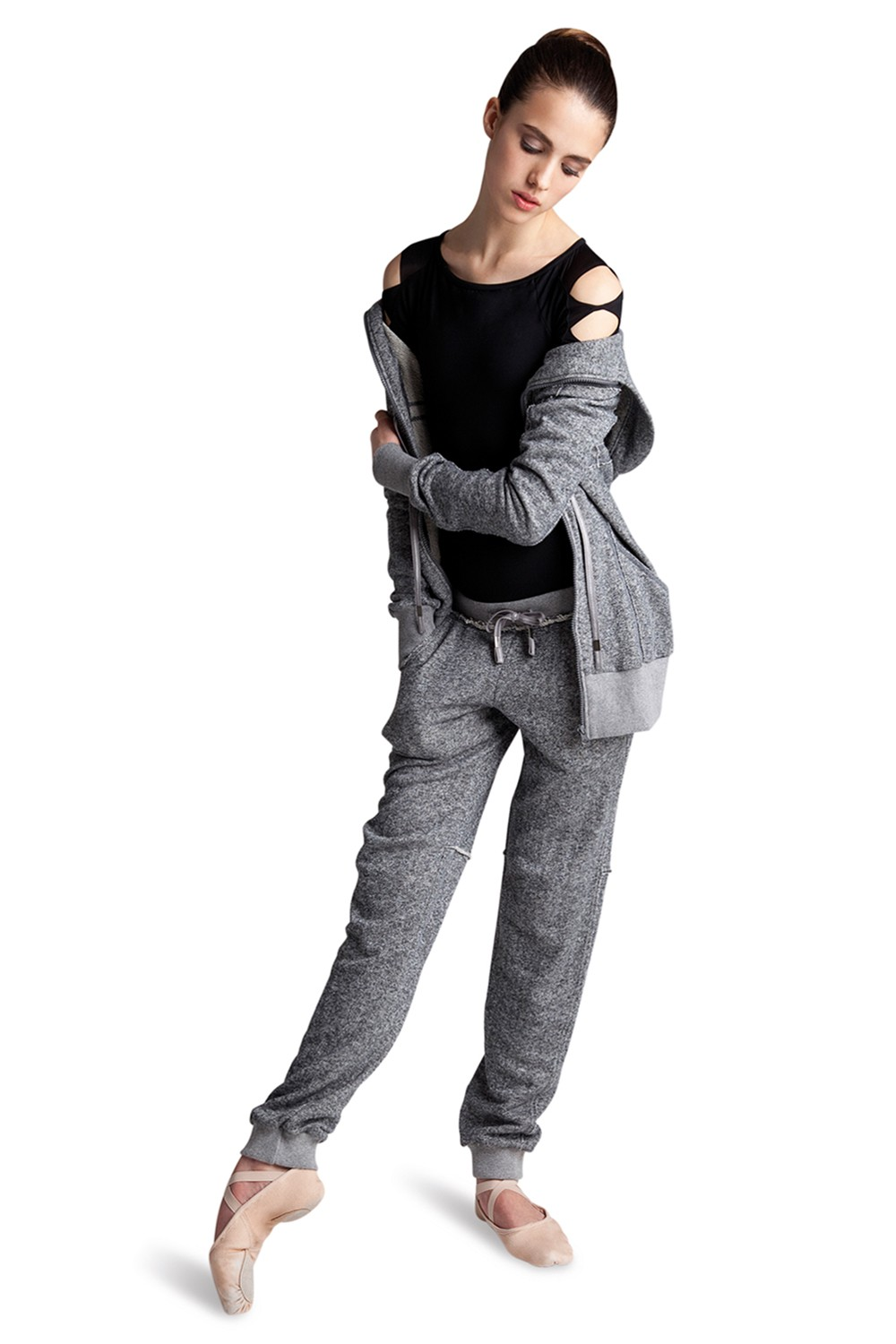 Raw Edge Hooded Jack Women's Dance Warmups