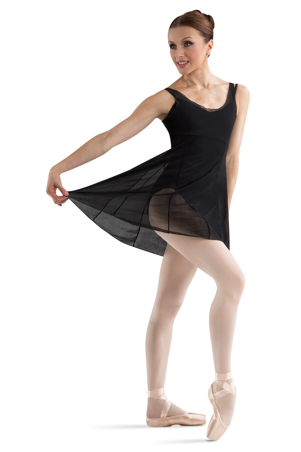 Emerge Nylon Mesh Dance Dress Women's Dance Skirts