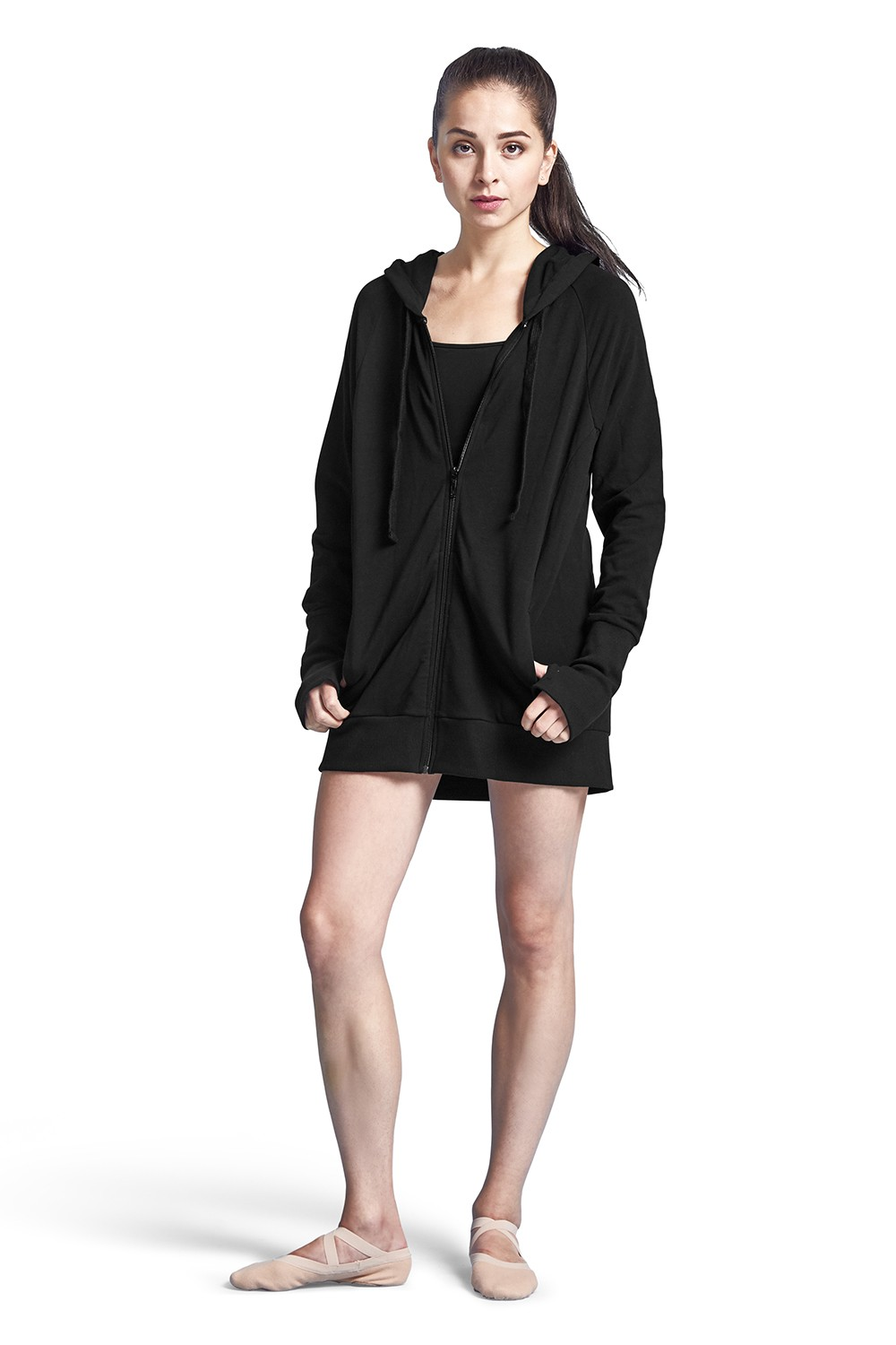 Longline Hooded Jacket Women's Dance Warmups