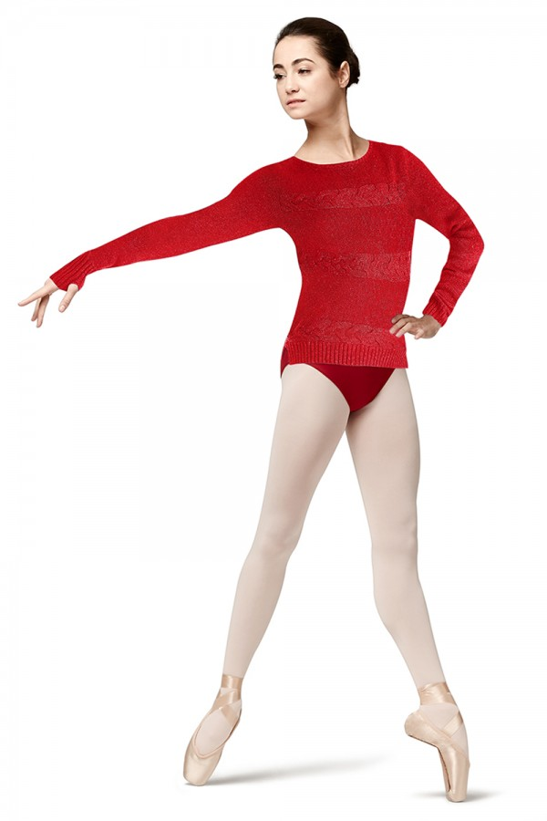 image - Long Sleeve Sweater Women's Dance Tops