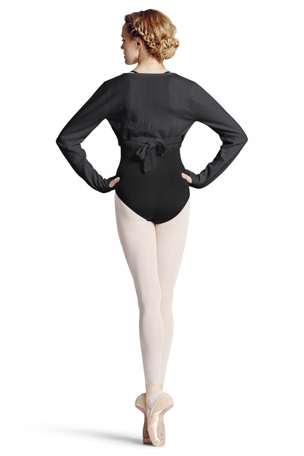 image - Knit Wrap Sweater Women's Dance Tops