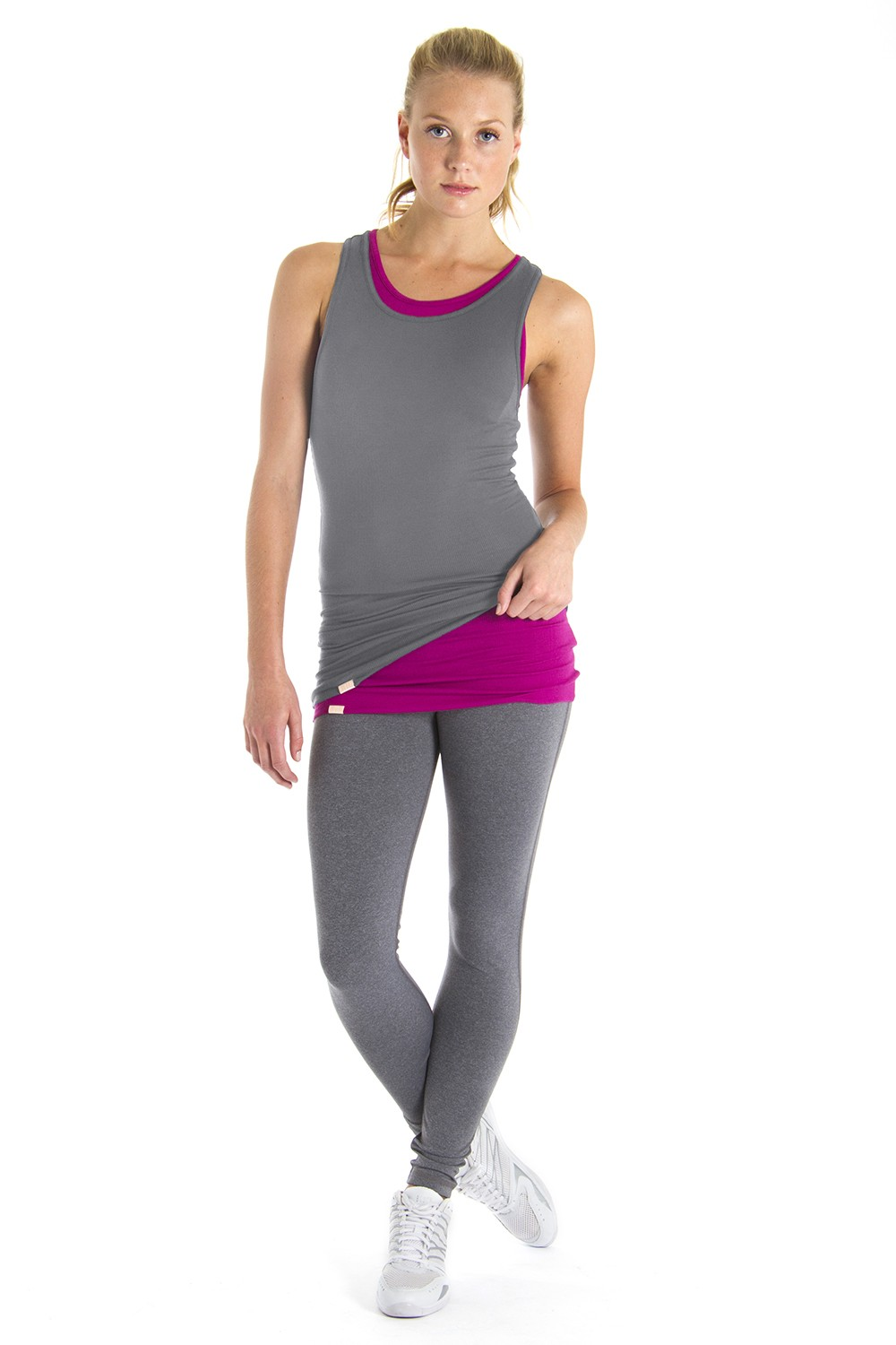 Racer Back Singlet Women's Tops