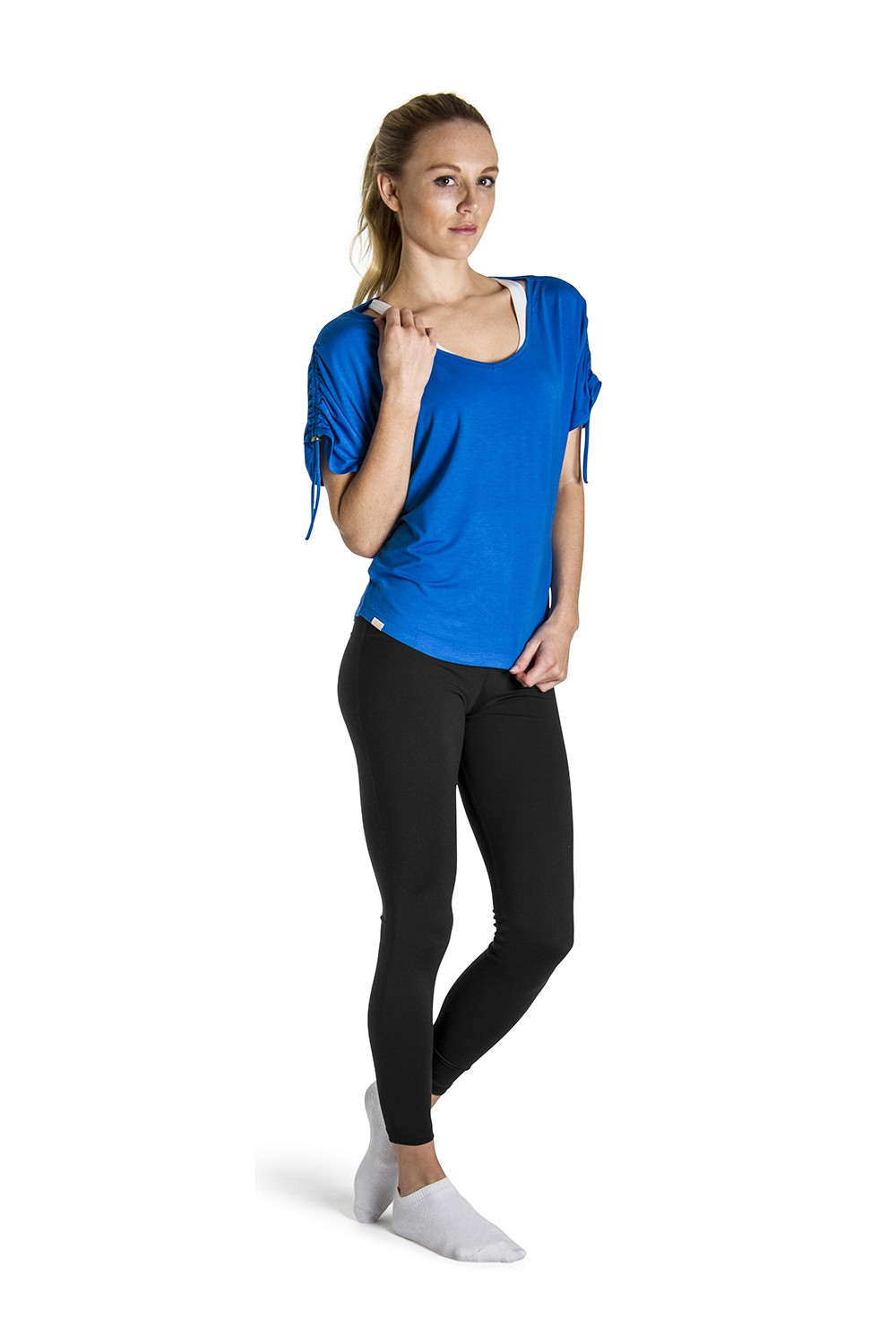 Rouched Sleeve Top Women's Tops