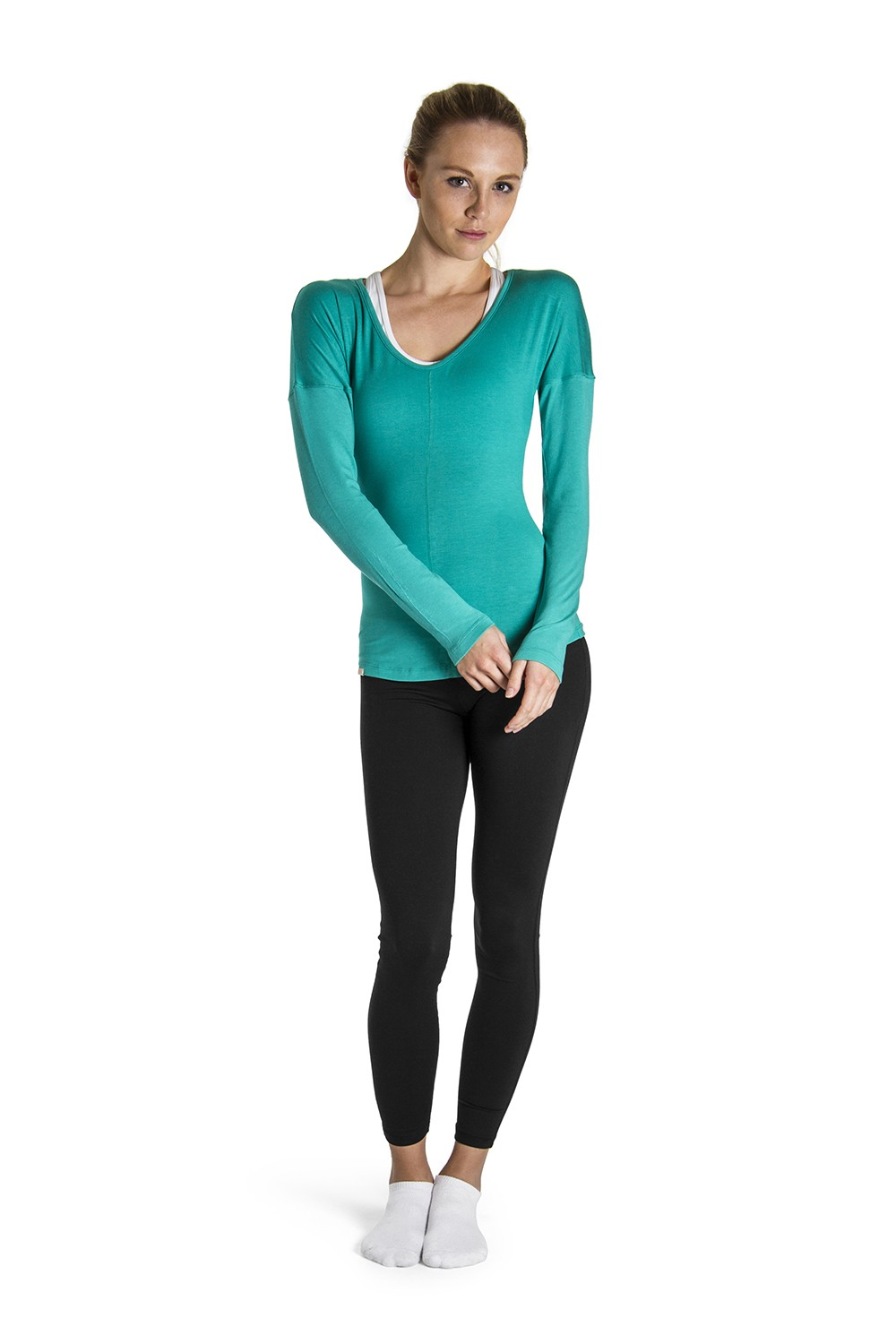 Rib Sleeve Jersey Top Women's Tops