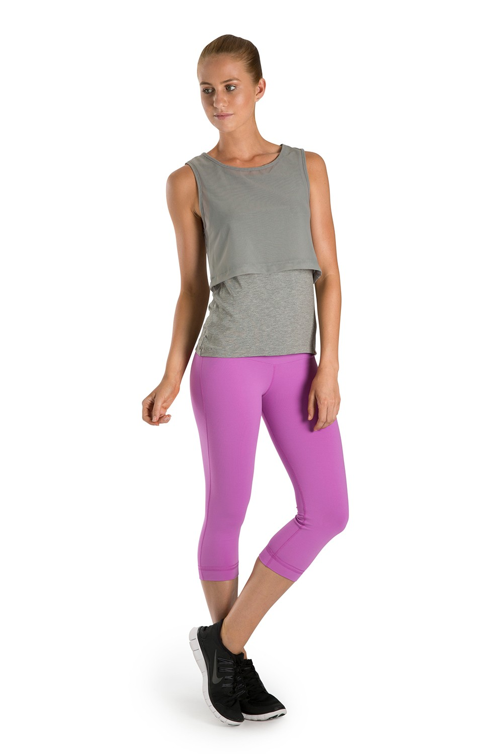 Layered Mesh Tank Women's Tops