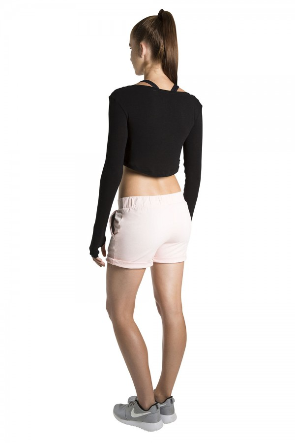 image - Knit Long Sleeve Crop Top Women's Tops