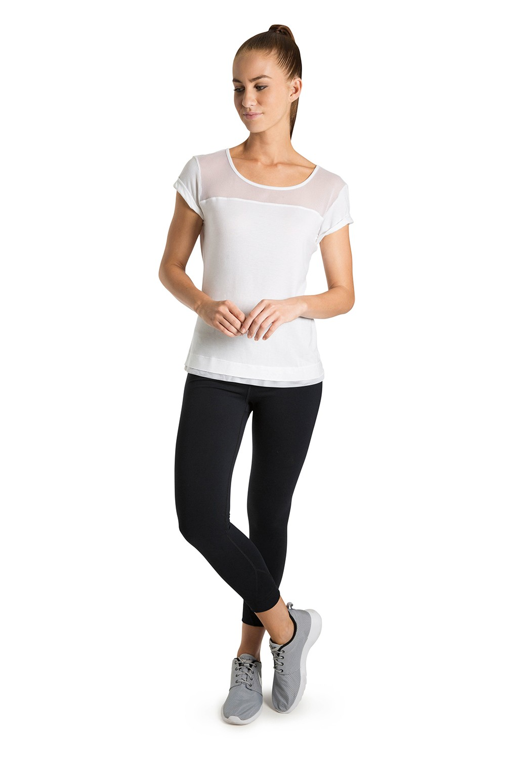 Roll Up Sleeve Tee Women's Tops