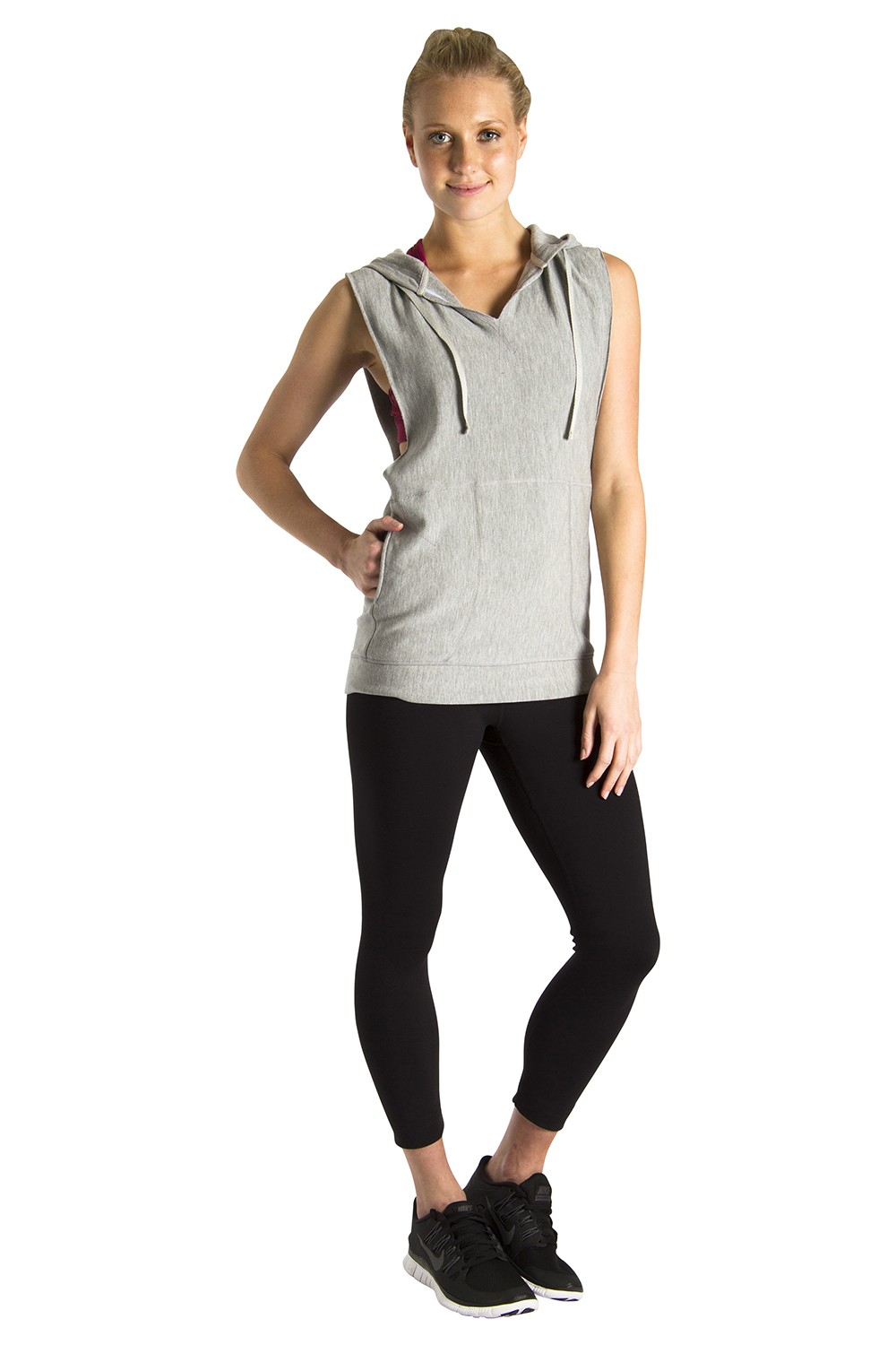 Sleeveless Hoodie Women's Tops