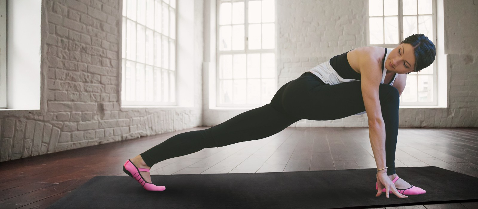 image - Workout with our Barre and Pilates fitness footwear.