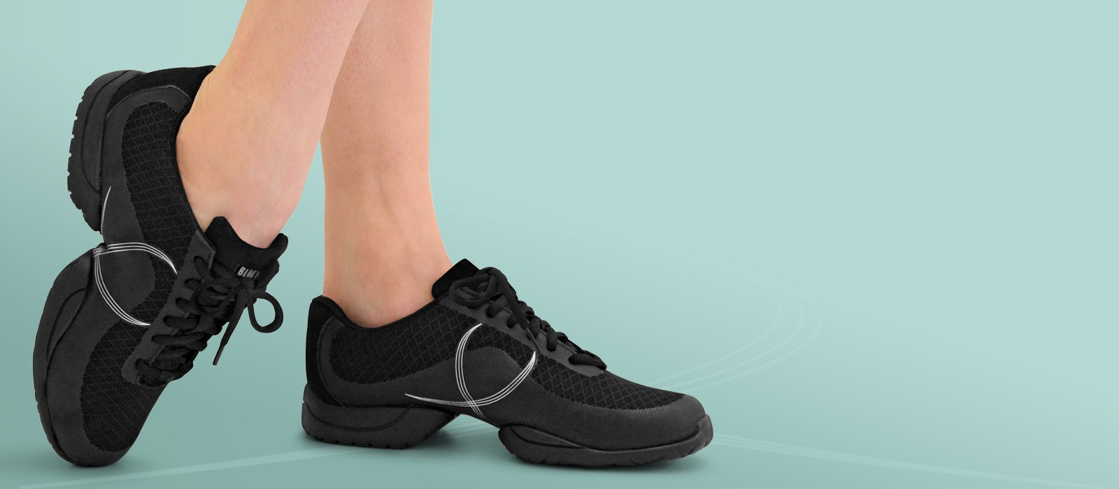 image - A free moving dance sneaker perfect for teams.