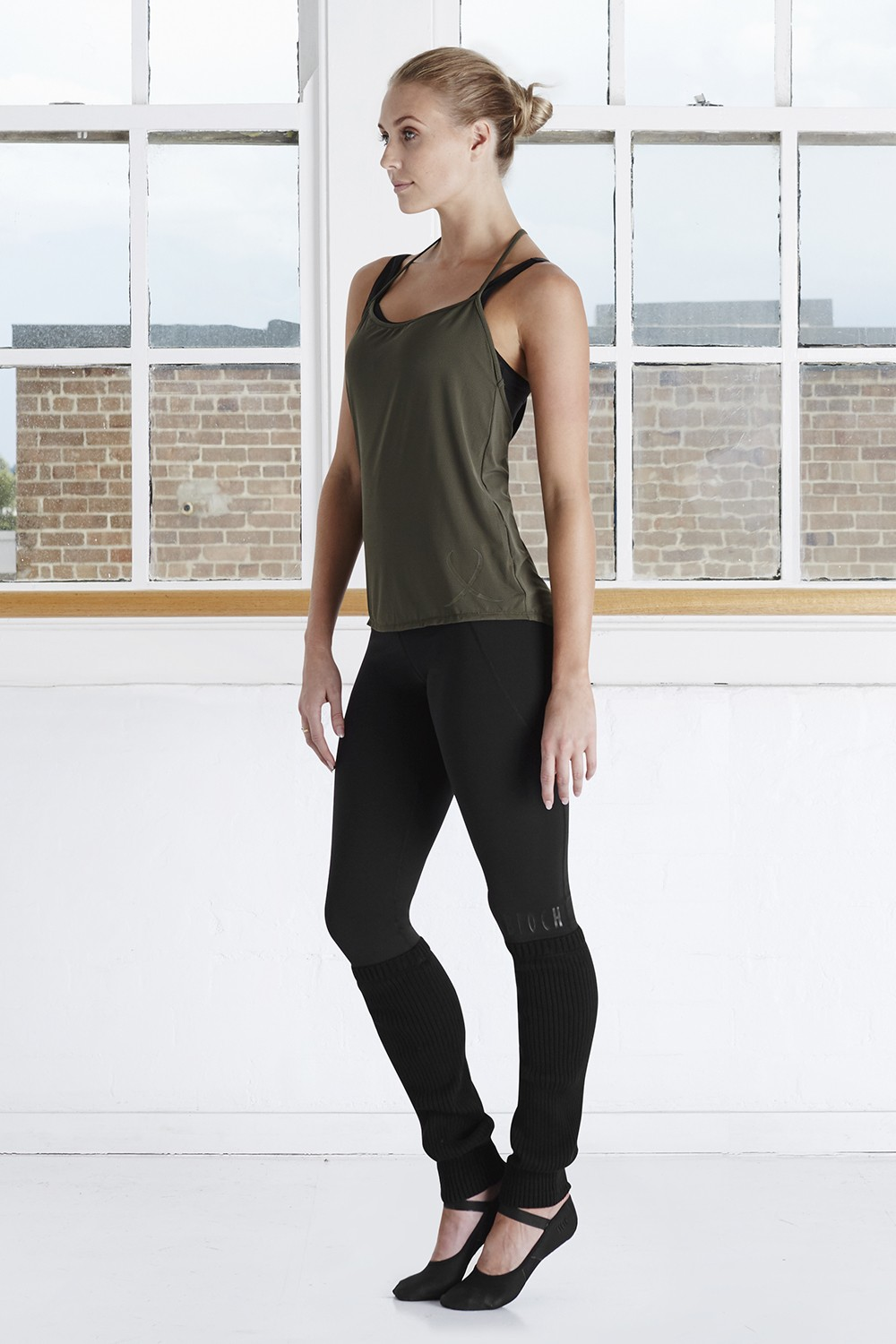 T Back Branded Singlet Top Women's Dance Tops