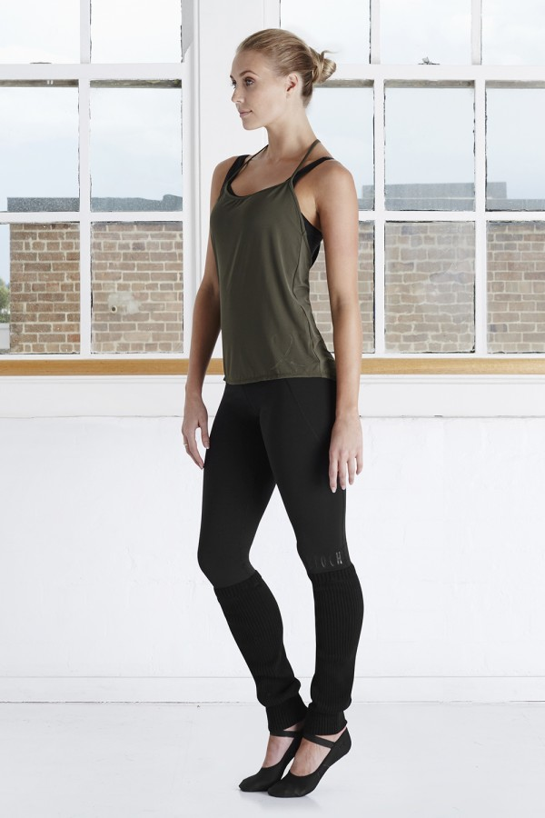 image - T Back Branded Singlet Top Women's Tops