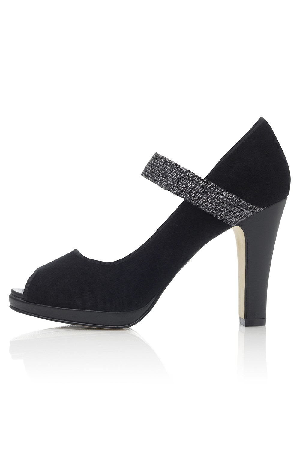 Peeptoe Elastico - Nero Womens Fashion Shoes