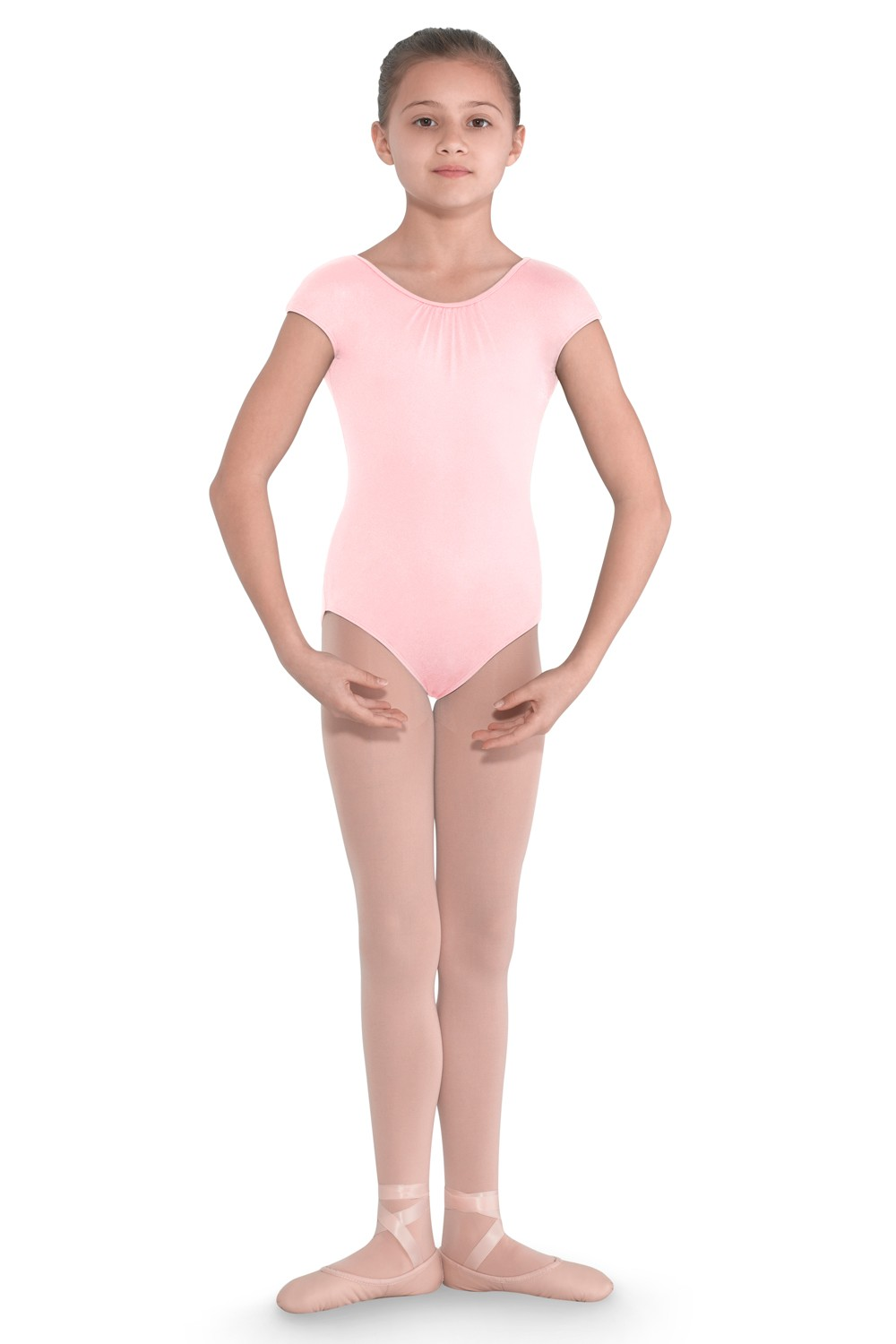 Seraphina Girls Embroidemesh Back Cap Sleeve Leota Children's Dance Leotards