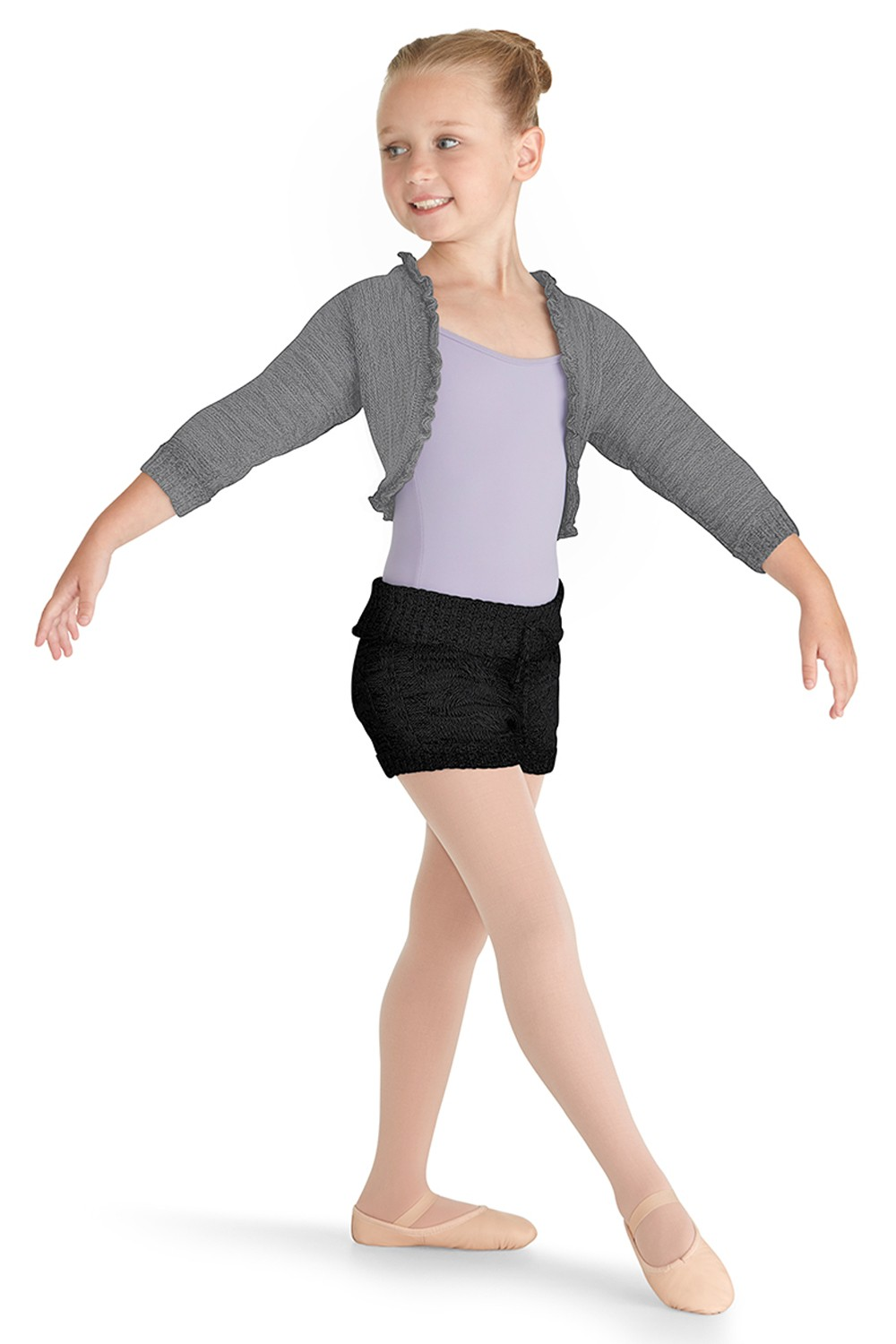 Cable Knit Short Children's Dance Shorts