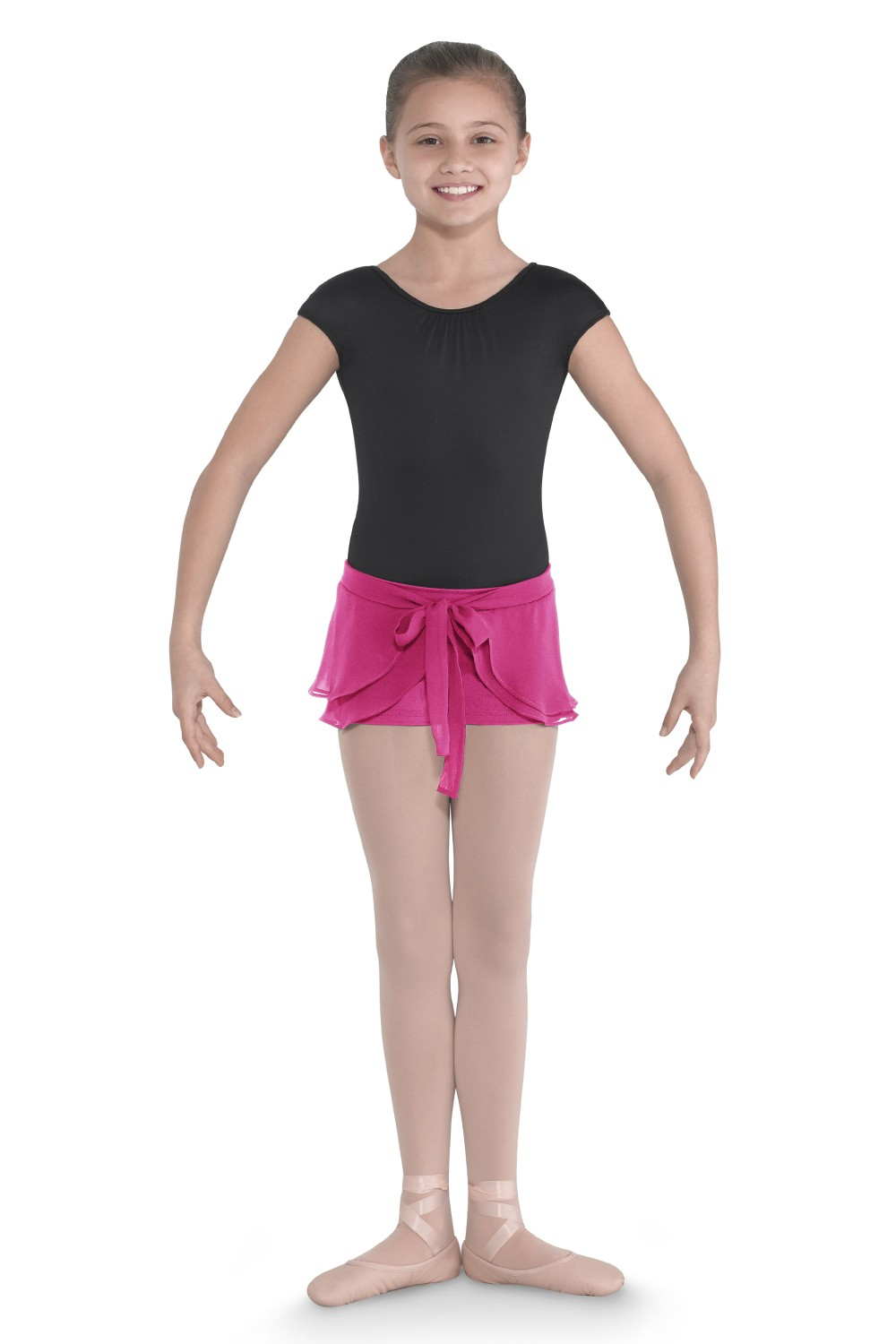 Short With Mock Skirt Children's Dance Skirts