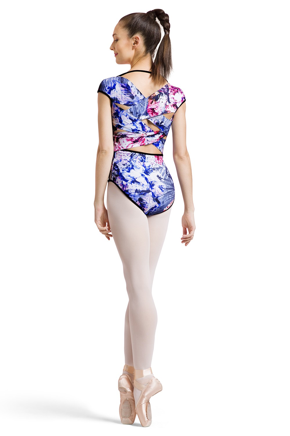 Daan Print Womens Short Sleeve Leotards