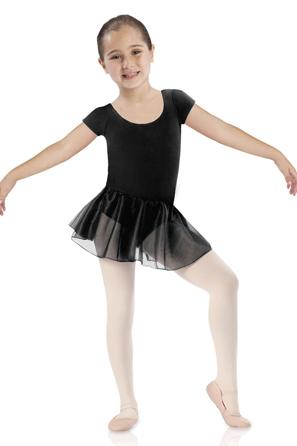 Short Sleeve Skirted Leotard Children's Dance Leotards