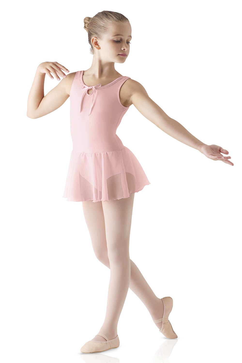Trim Neck Skirted Leotard Children's Dance Leotards