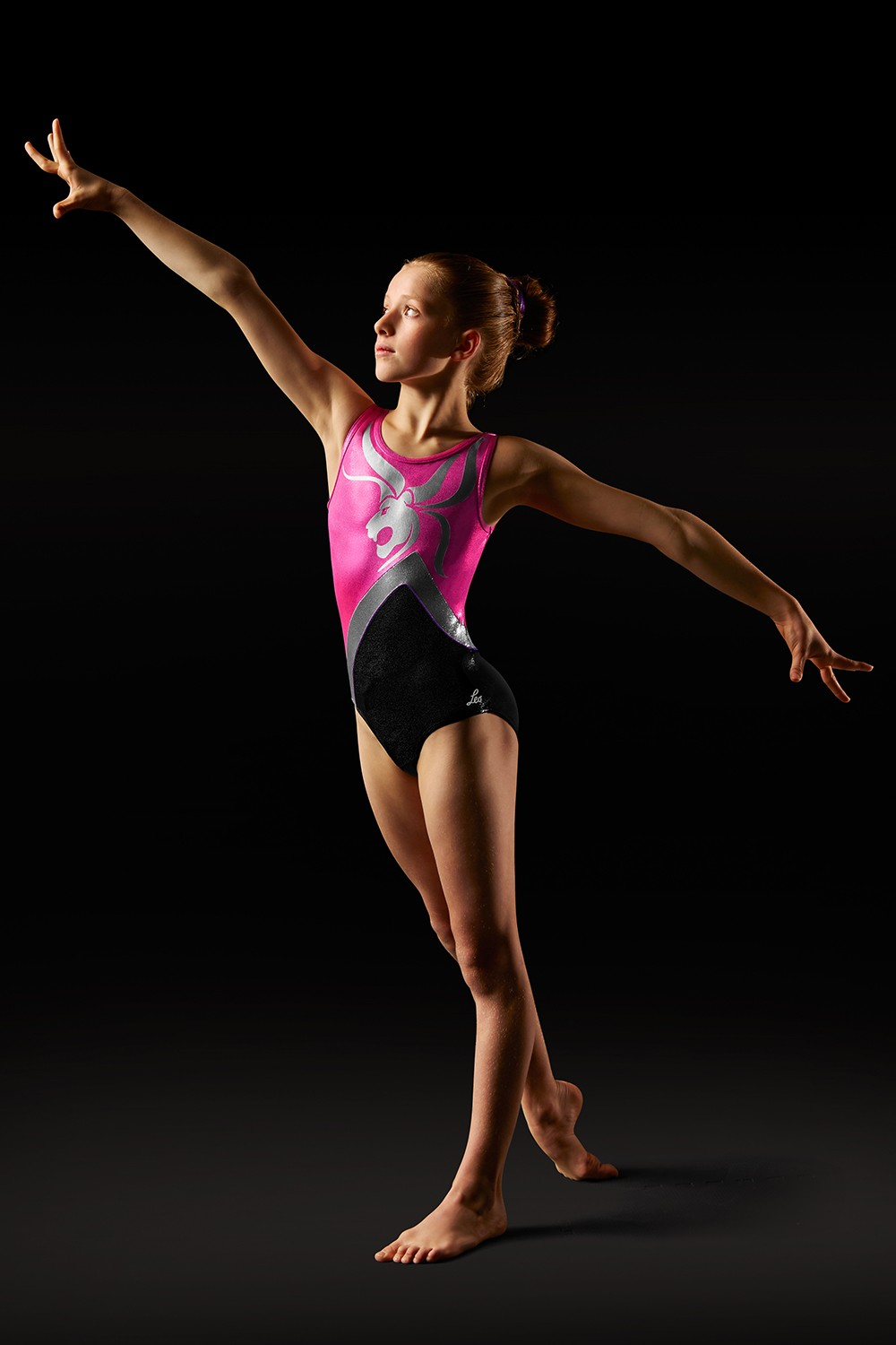 Body Leo Con Spalline Larghe E Motivo A Leone Girl's Gymnastics Leotards