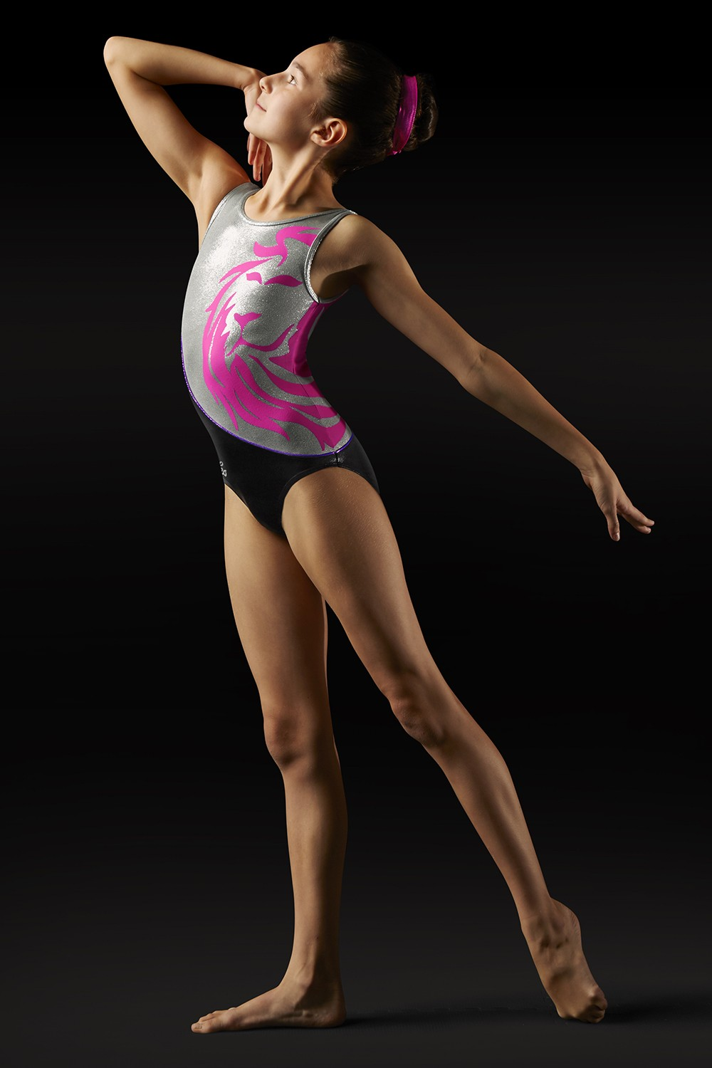 Body Leo Con Spalline Larghe E Ampio Motivo A Leone Girl's Gymnastics Leotards