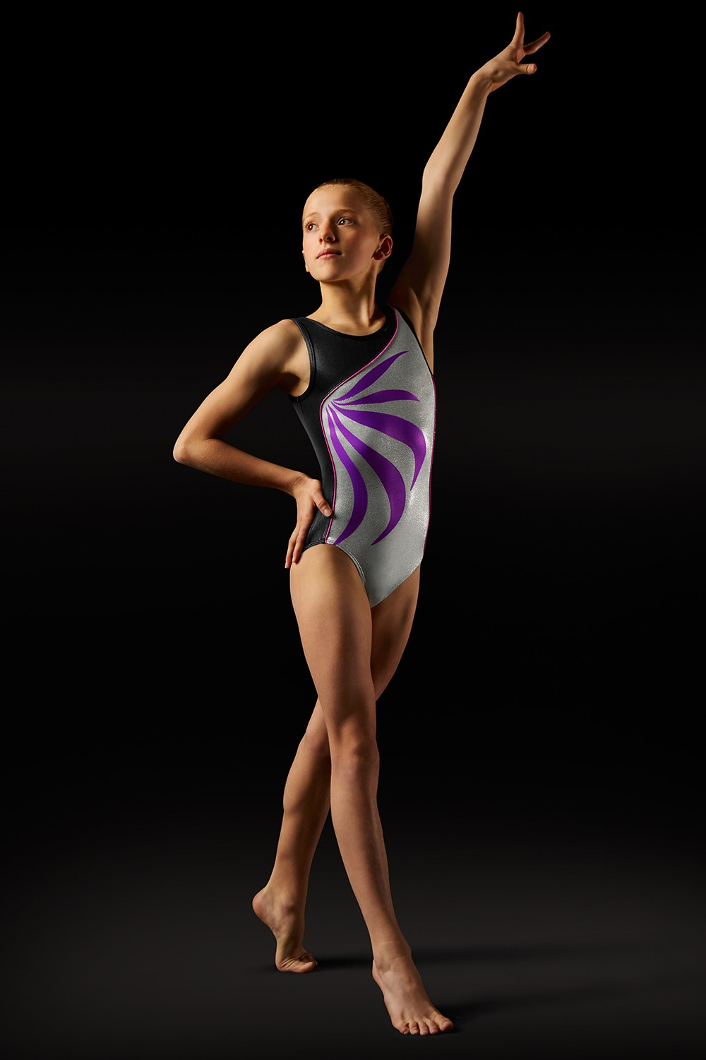 Body Con Spalline Larghe E Motivo A Fiamma Girl's Gymnastics Leotards