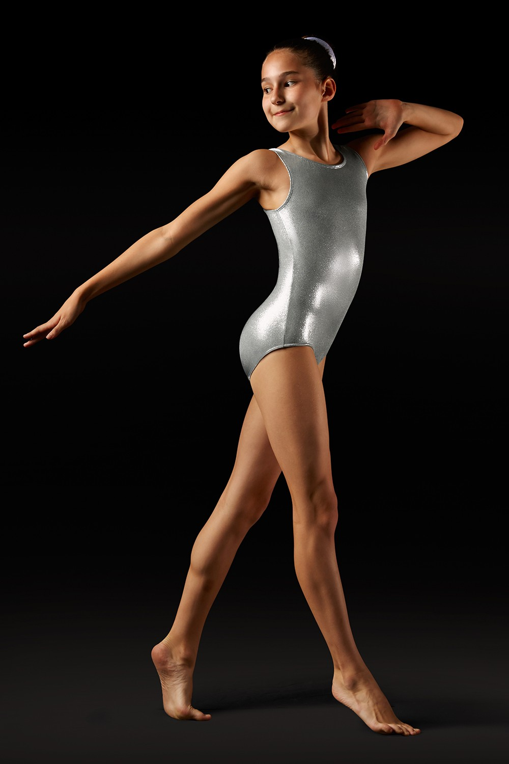 Body Metallizzato Con Spalline Larghe Girl's Gymnastics Leotards