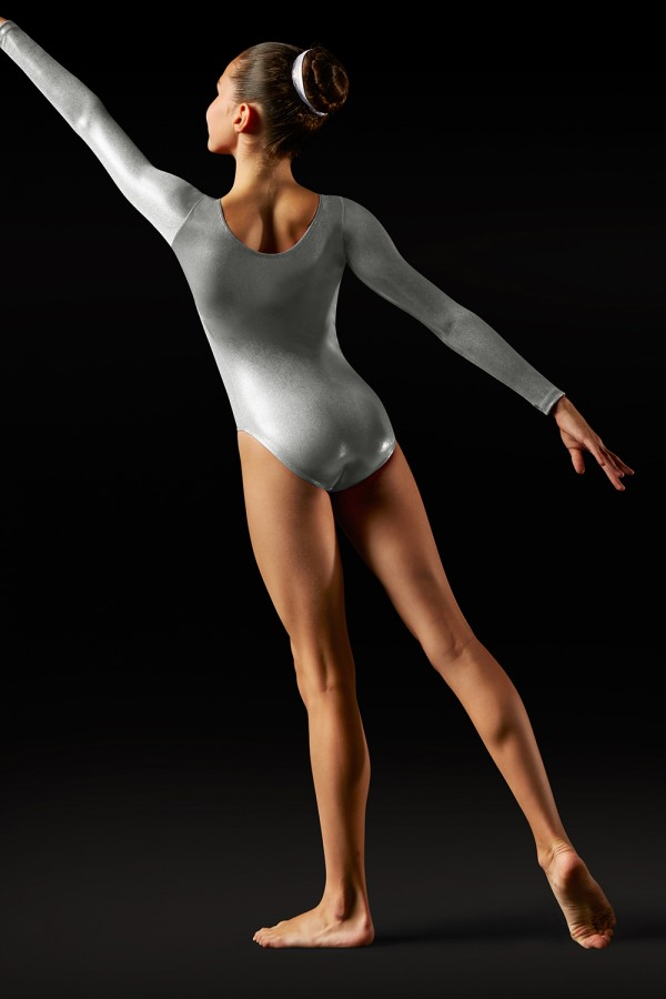 image - Foil Long Sleeve Leotard - Girls Girl's Gymnastics Leotards