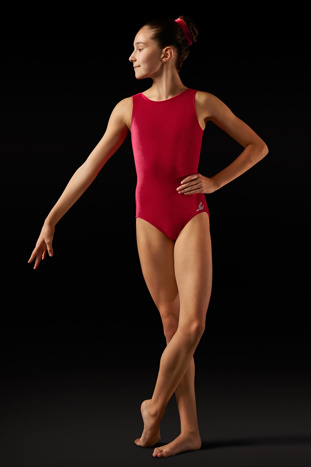 Body In Velluto Con Spalline Larghe Girl's Gymnastics Leotards