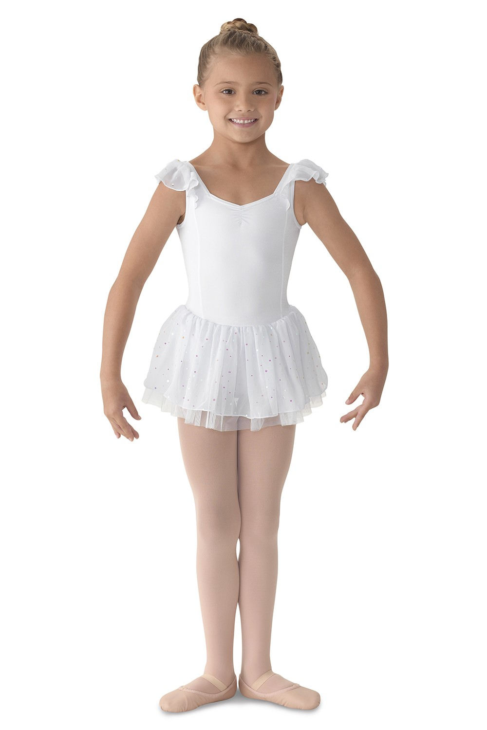 Flutter Sleeve Dress Children's Dance Leotards