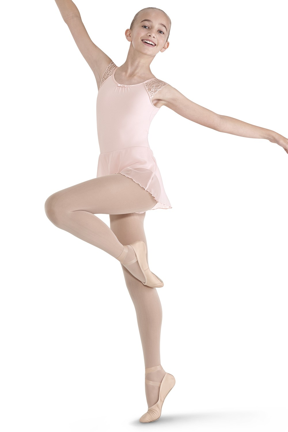 Lace Shoulder Skirted Leotard Children's Dance Leotards