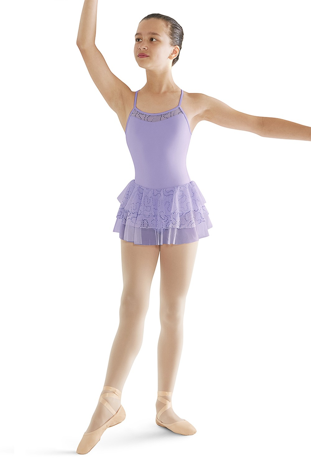 Layered Skirt Camisole Children's Dance Leotards