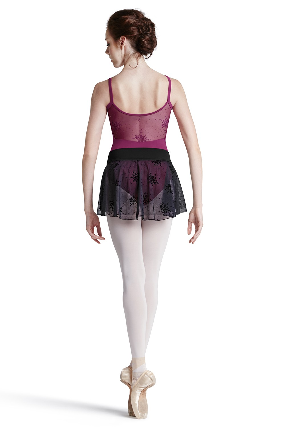 Floral Flk Yoke Leo Women's Dance Leotards