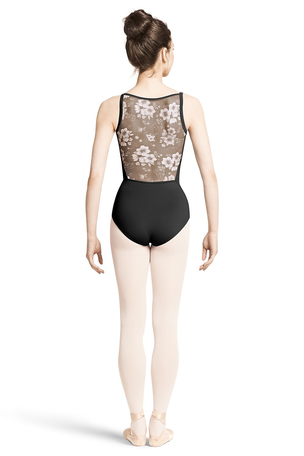 Body Con Spalline Sottili E Retro In Tessuto A Rete Con Stampa Floreale Women's Dance Leotards