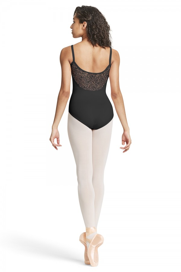 image - Mesh Scoop Back Camisole Leotard Womens Camisole Leotards