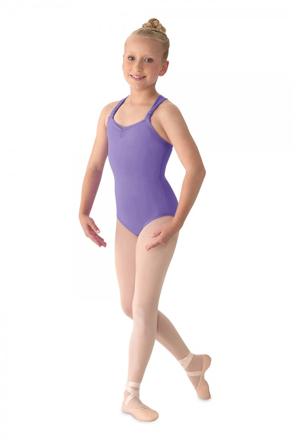 image - Rouched Strap Leotard Children's Dance Leotards
