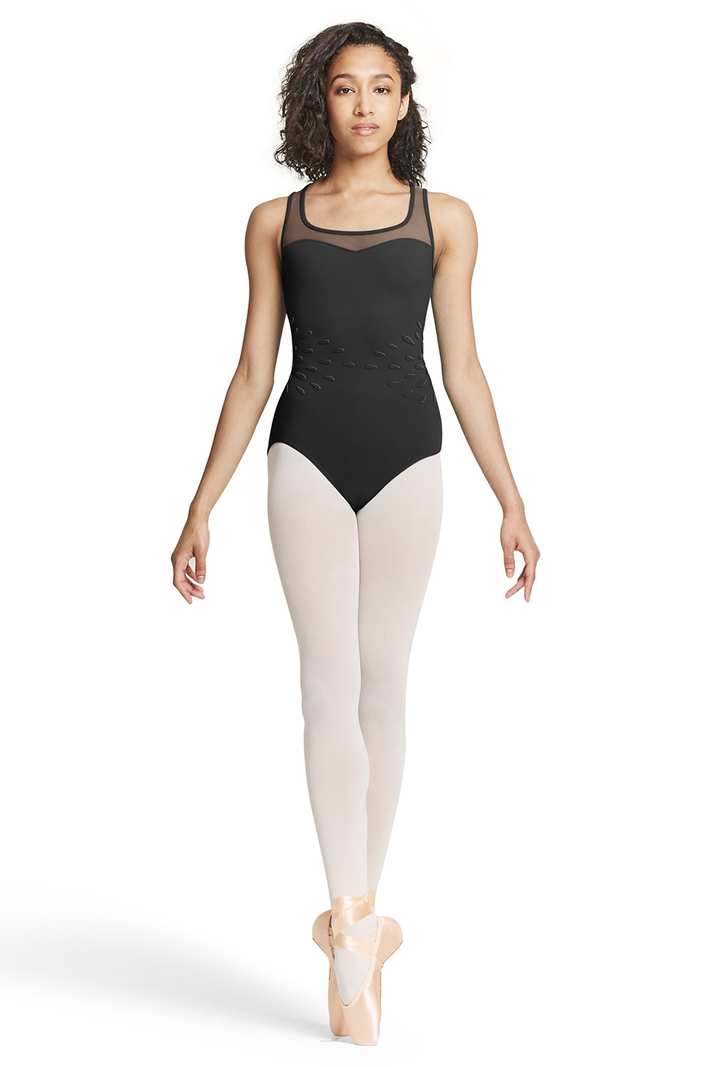 Mesh Back Tank Leotard Womens Tank Leotards