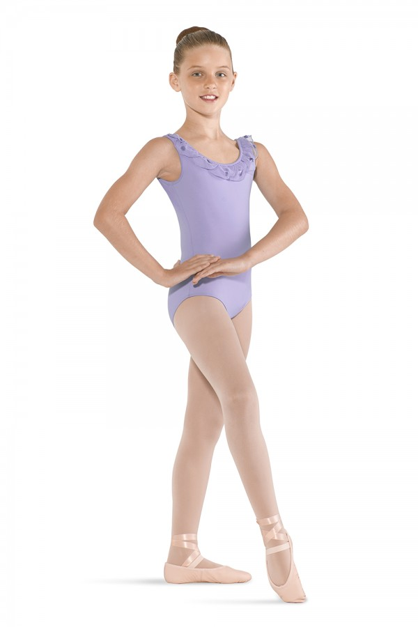 image - Petal Neckline Tank Children's Dance Leotards
