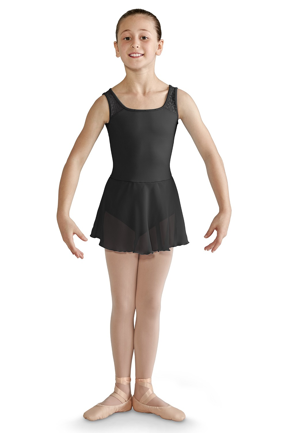 Open Back Skirted Tank Leotard Girls Skirted Leotards