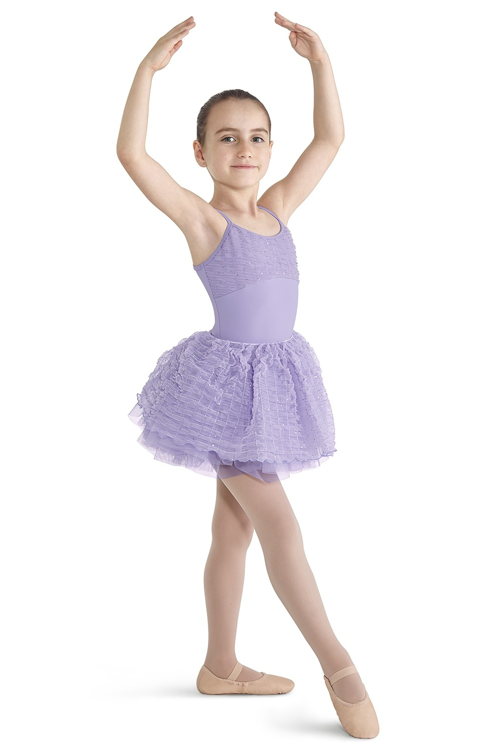 Crinkle Sequin Mesh Camisole Leotard Children's Dance Leotards