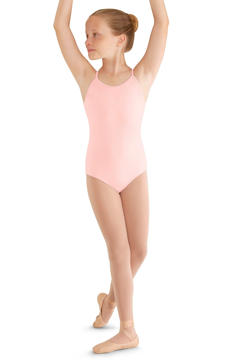 Soft Mesh Cross Back Cami Leo Children's Dance Leotards